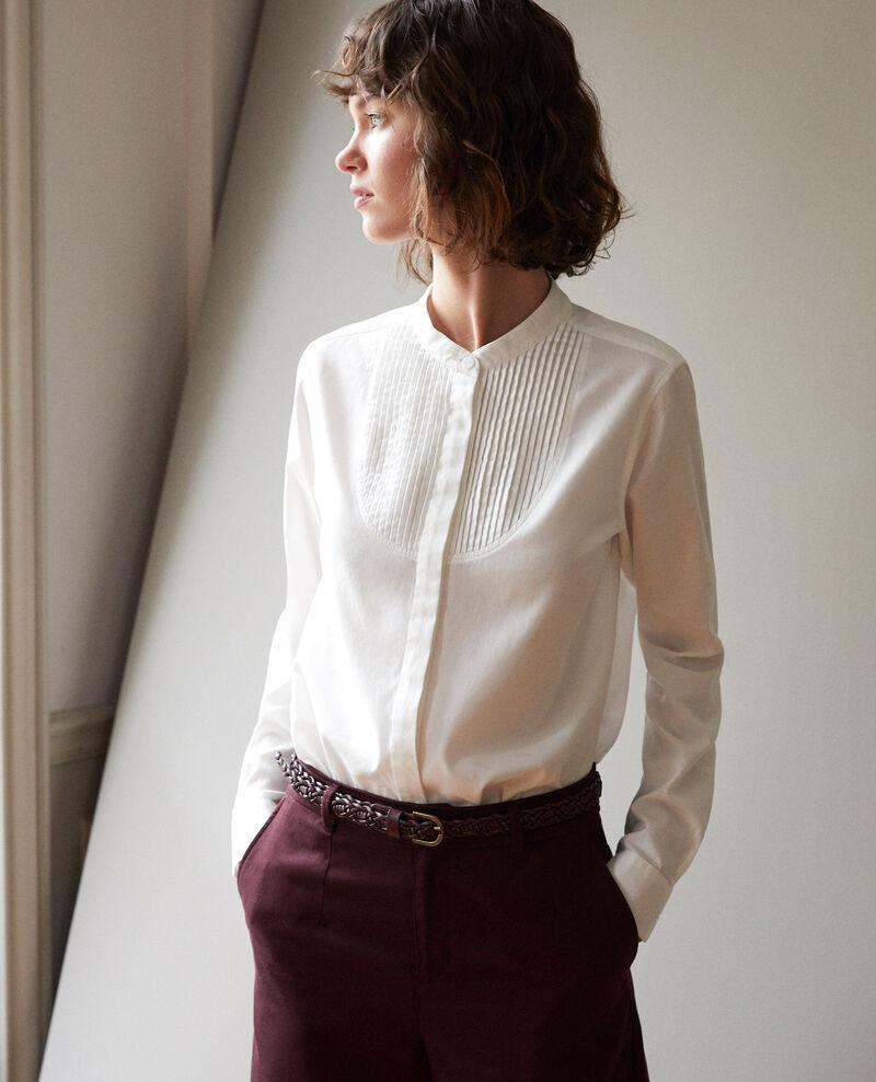 Camisa cuello mao Blanco Ganane