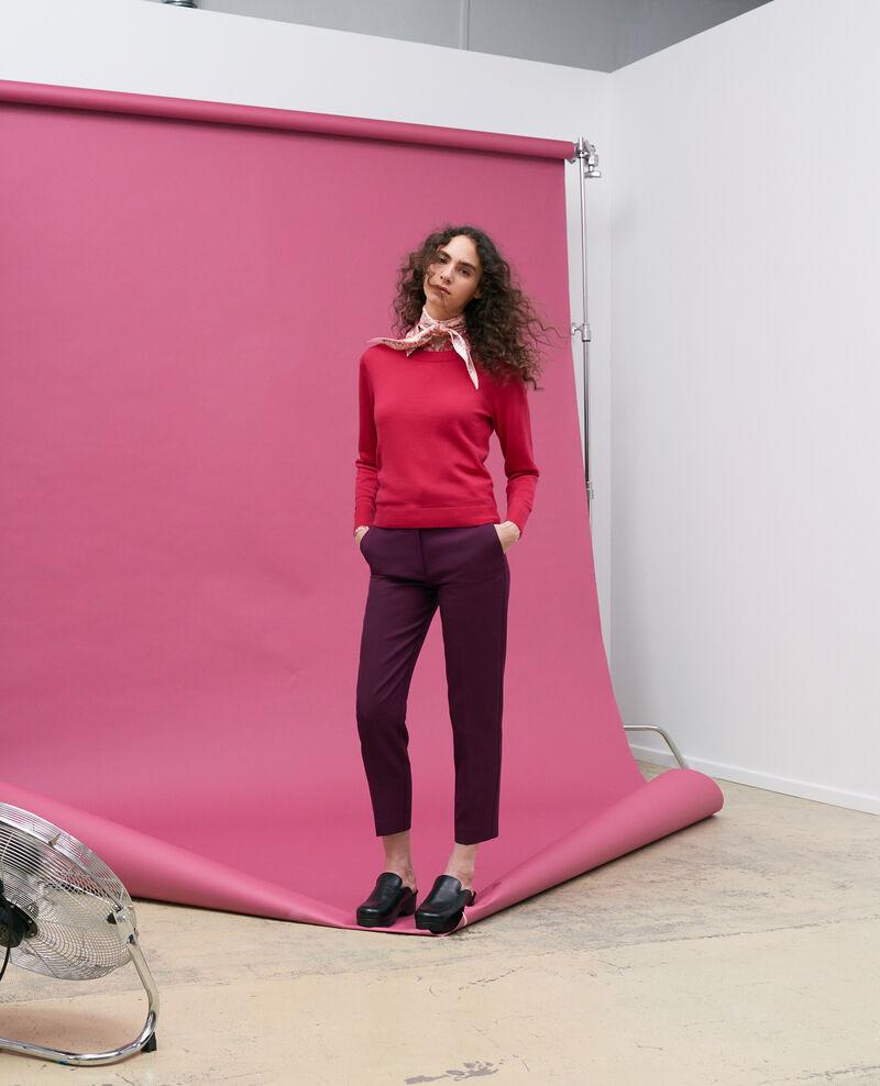 Jersey cuello redondo de lana merino Persian red Passy