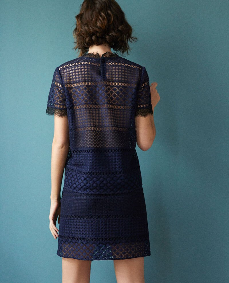 Falda de encaje Azul Gimmy