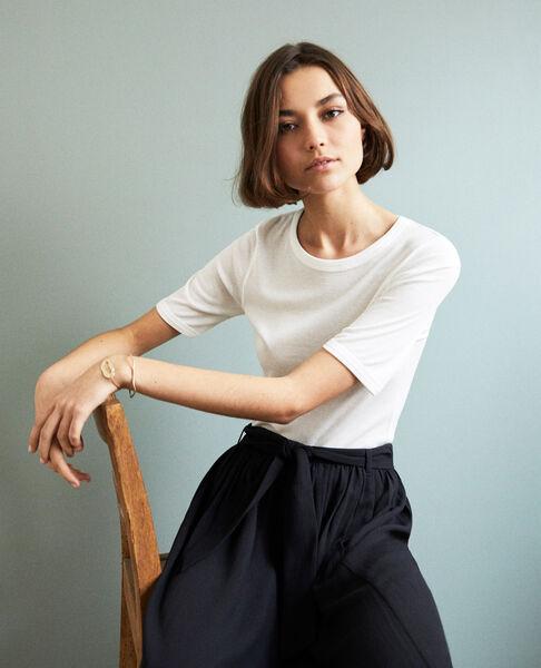 Comptoir des Cotonniers - Camiseta canalé  Off white - 1