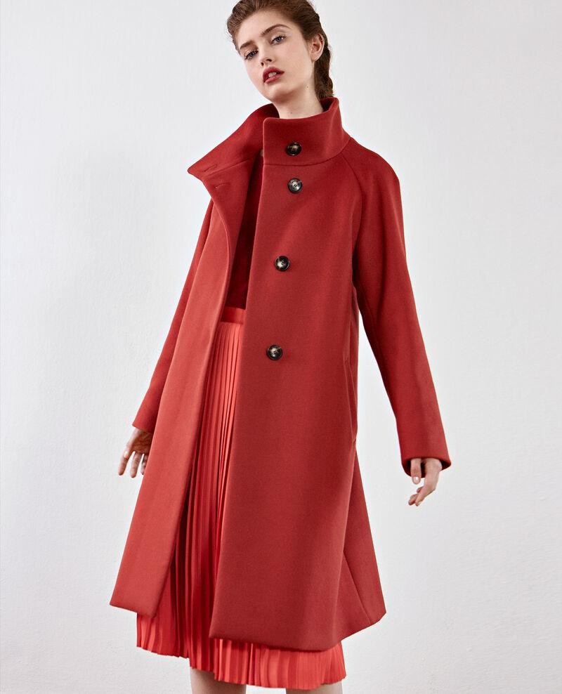 Abrigo de lana Rust Dyera