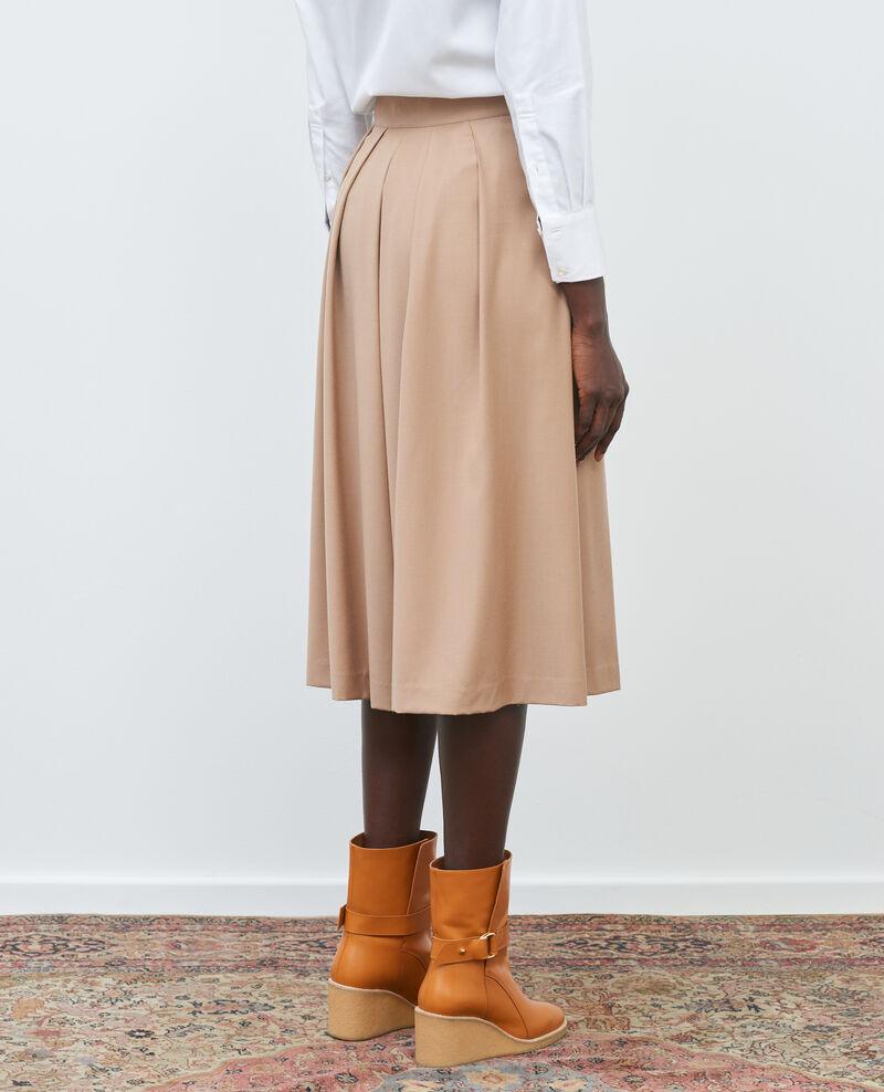BABETH - Falda pantalón de lana y cachemir con pinzas Amphora Marby
