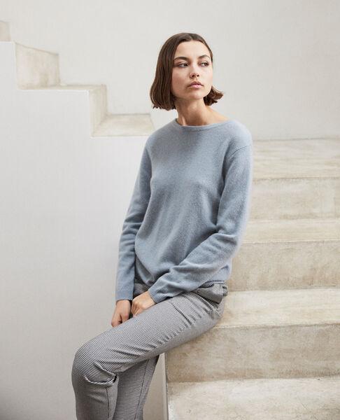 Comptoir des Cotonniers - Jersey cuello redondo de cachemir Blue mirage - 3