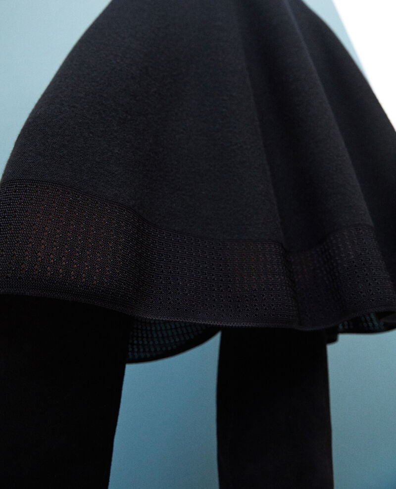 Vestido wholegarment con cuello ajustable Negro Gamelie