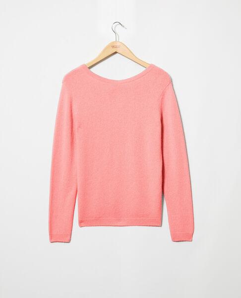 Comptoir des Cotonniers - Jersey cuello redondo de cachemir Salmon pink - 2