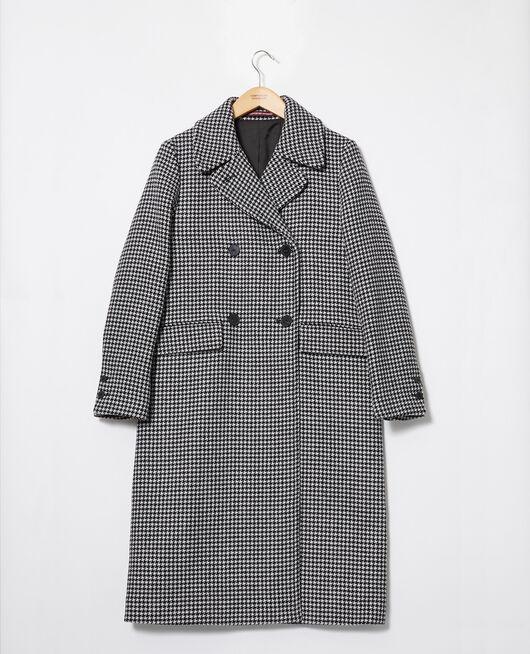 Abrigo de lana HOUNDTOOTH