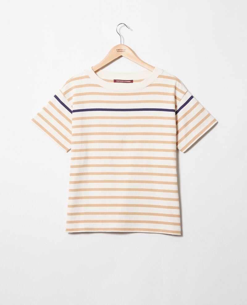 Camiseta de rayas Ow/camel/navy Ipanka
