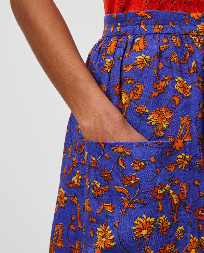 Falda corta de lino Indie-big-blue Nabios