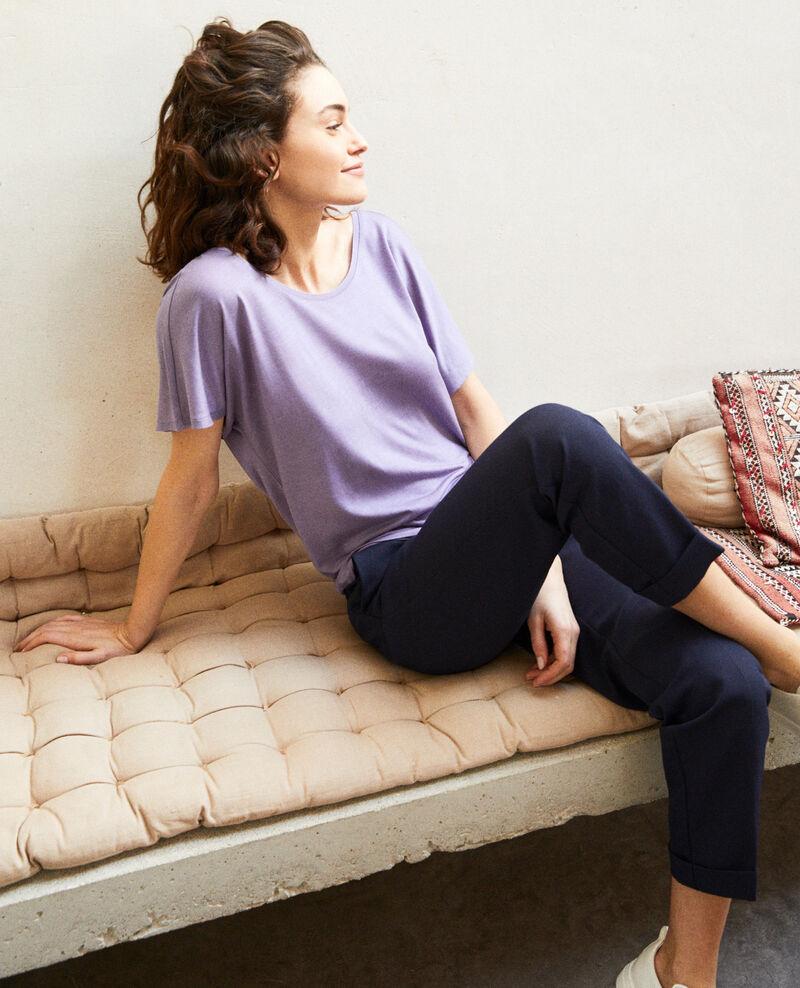 T-shirt col V dans le dos  Purple Imeric