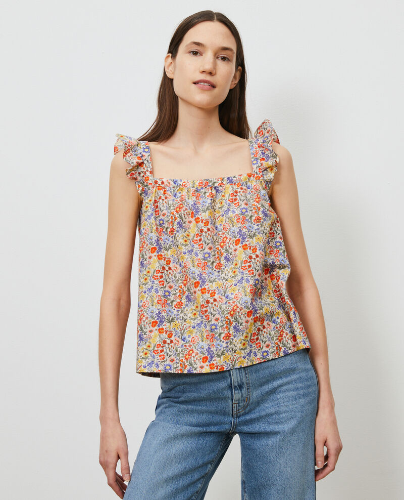 Top con tirantes de algodón y seda Prairie gardenia Nympha