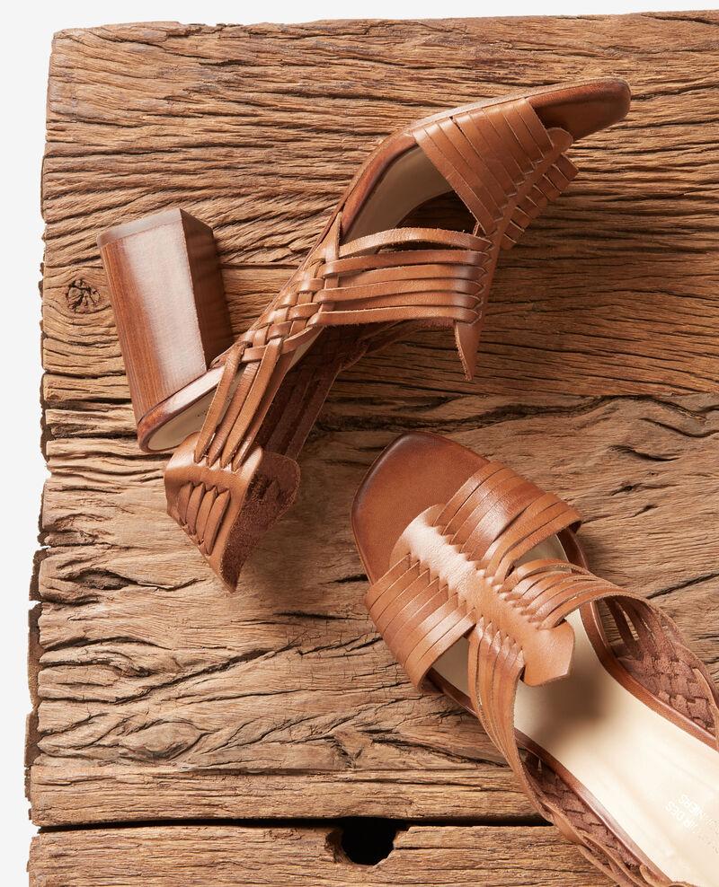 Sandalias trenzadas Cognac Fonelle