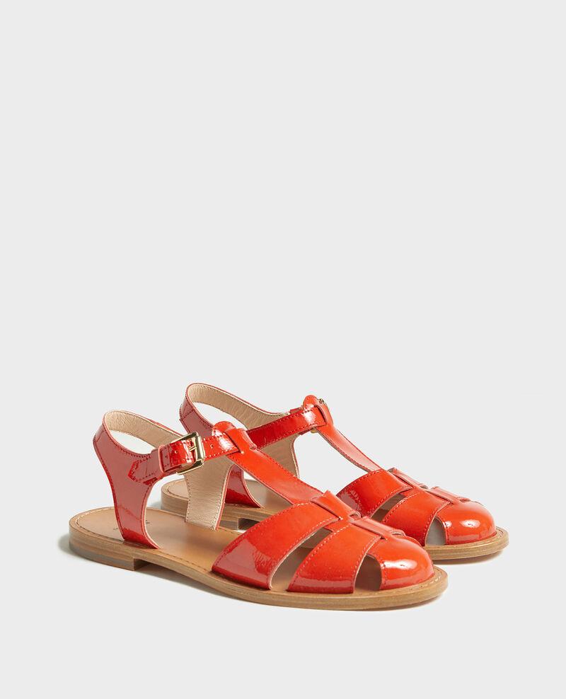 Sandalias de charol Fiery red Lapiaz
