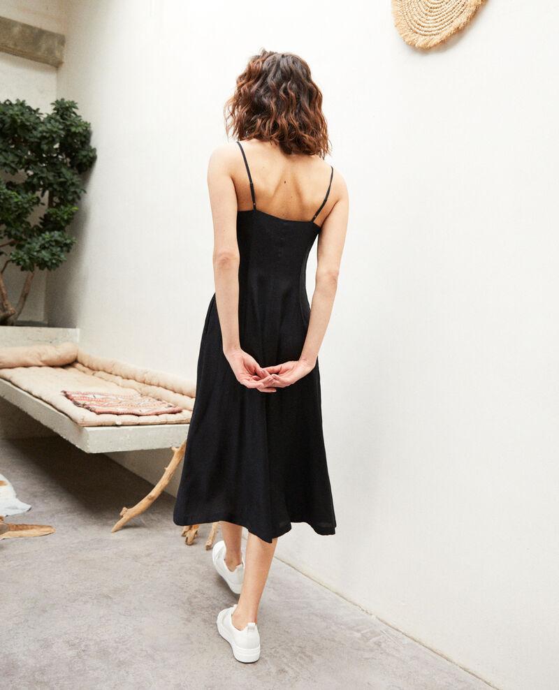 Vestido con seda Noir Ibriella