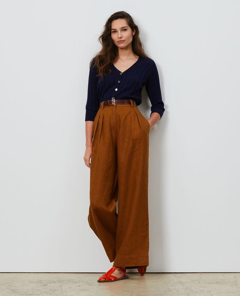 Pantalón YVONNE de lino con talle alto Monks robe Lafare