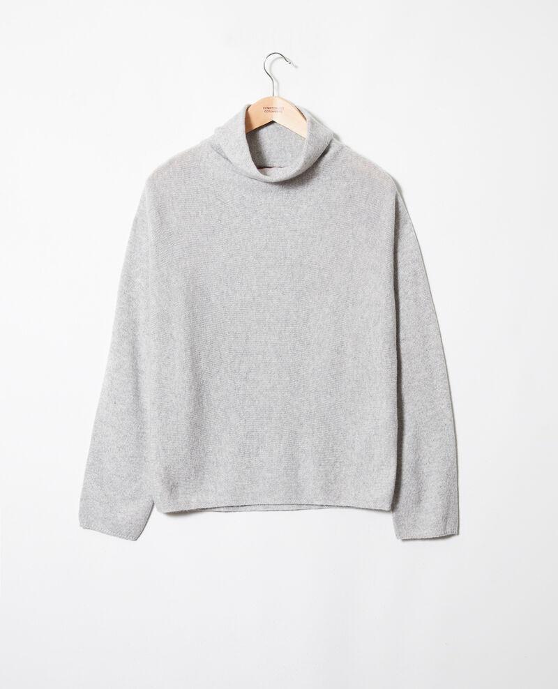 Jersey con cuello subido de cachemir Light grey Jinette