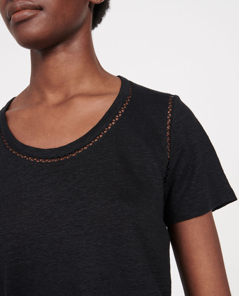 Camiseta de lino de jersey Black beauty Lye