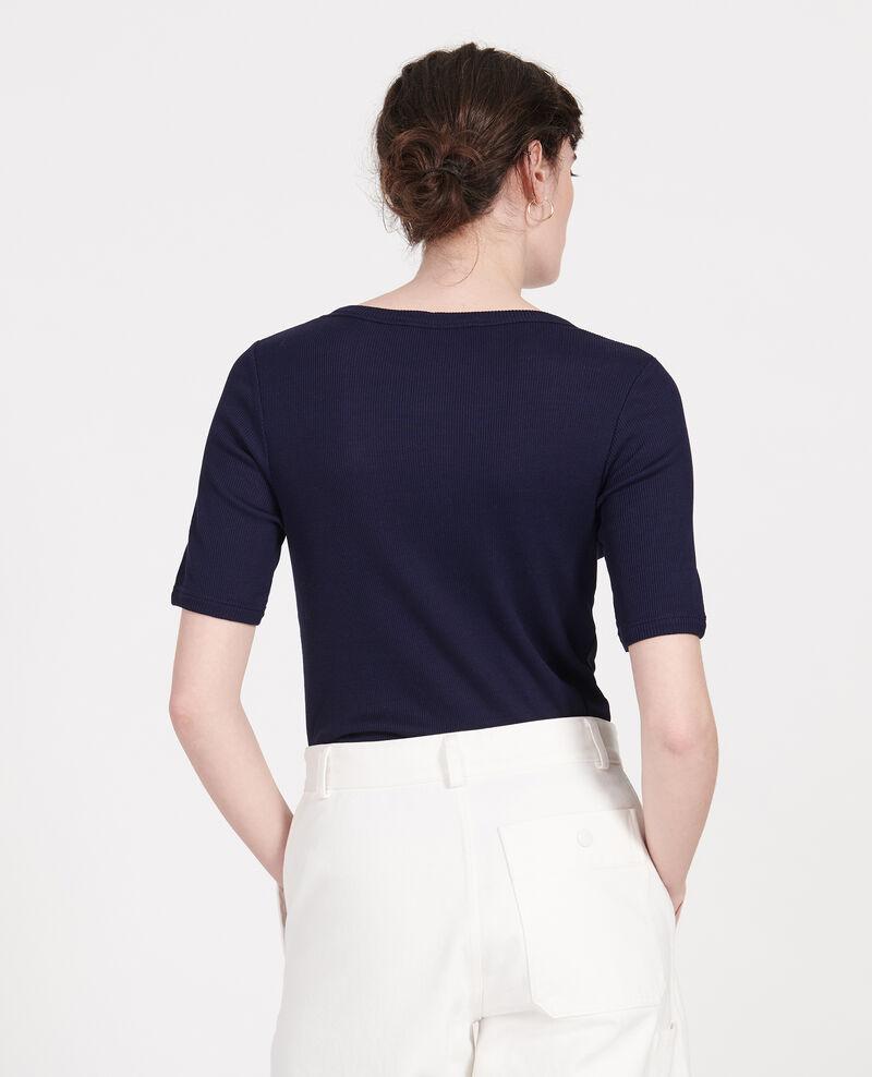 Camiseta de algodón mercerizado Maritime blue Lasso