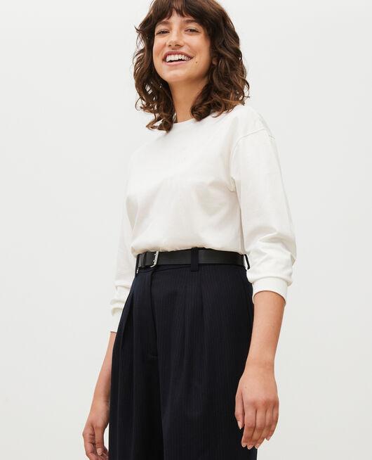Camiseta de algodón con cuello barco y manga larga JET STREAM