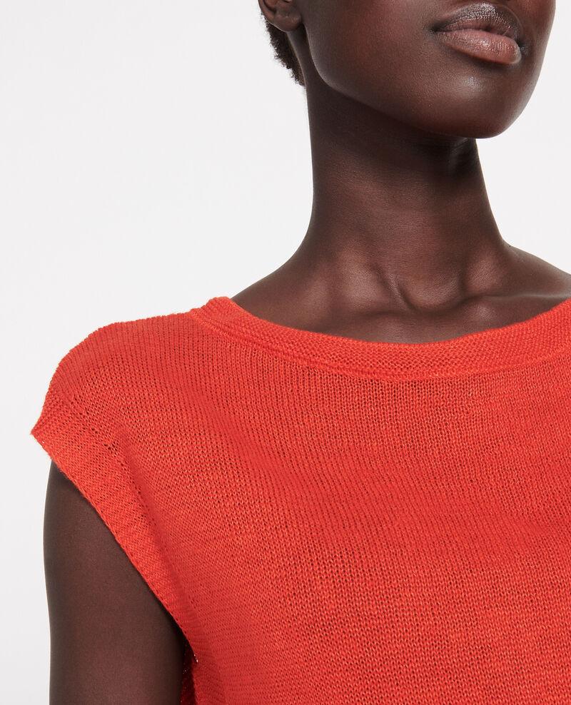 Camiseta de lino Fiery red Lagardiolle