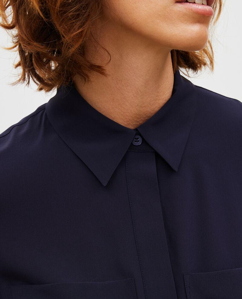 Camisa fluida de seda con manga larga Night sky Misabetha