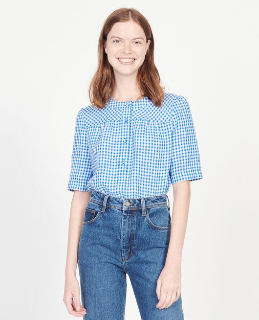 Blusa de lino VICHY PRINCESS BLUE GARDENIA