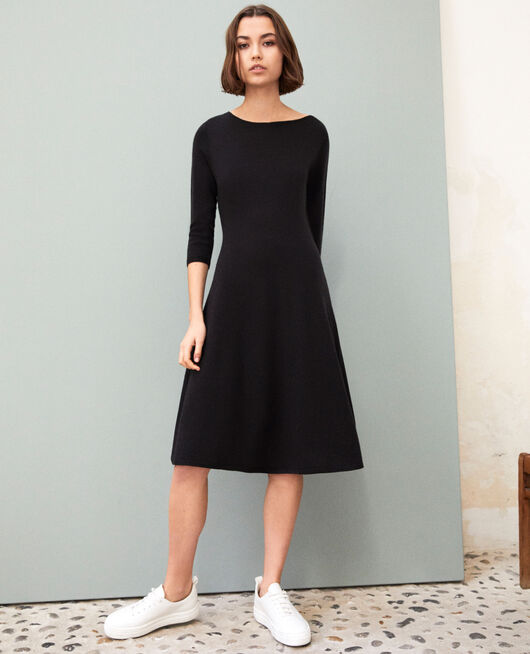 Vestido de lana NOIR