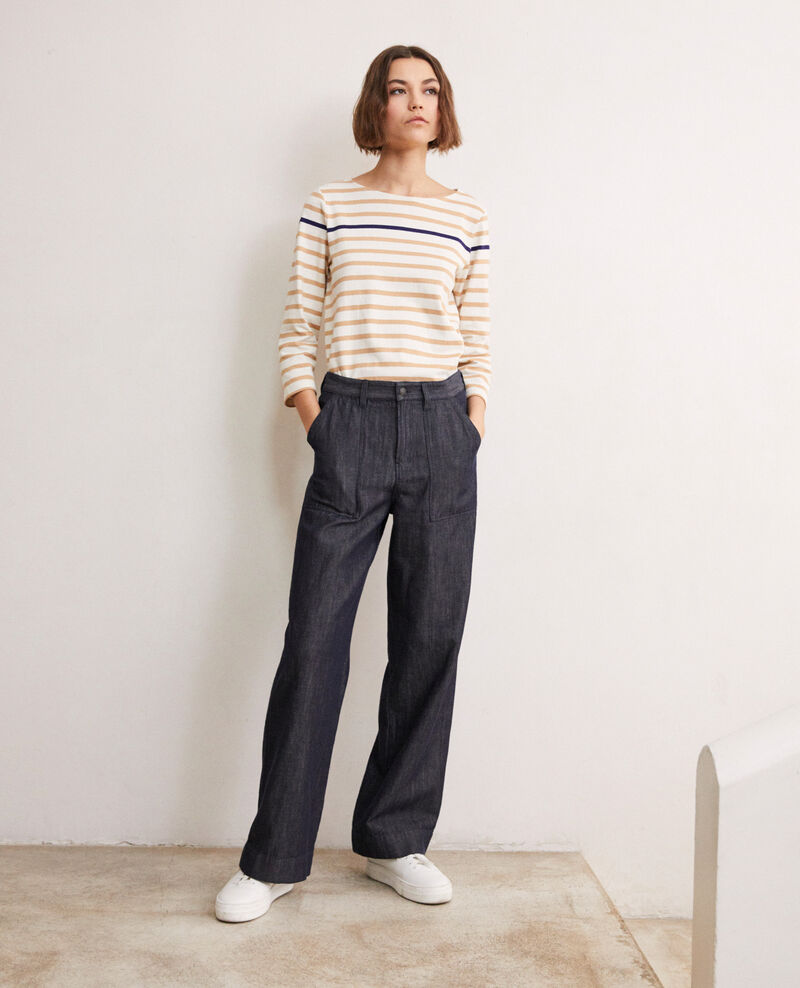 Pantalón con lino Indigo Ivoxin