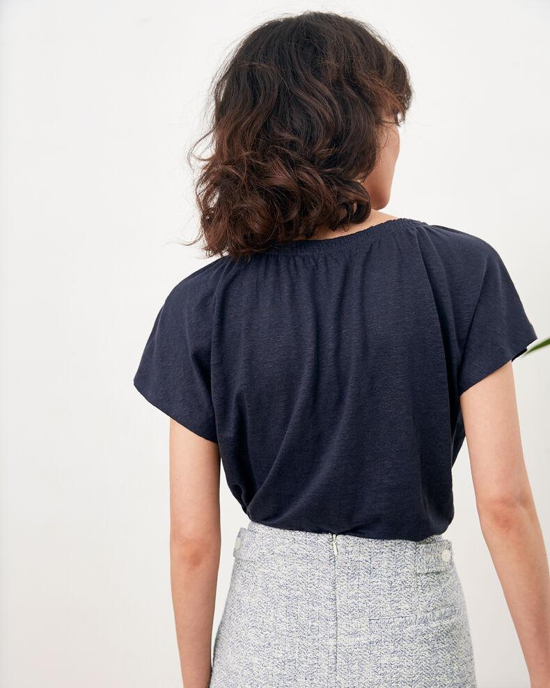 Camiseta de lino Navy Flabi