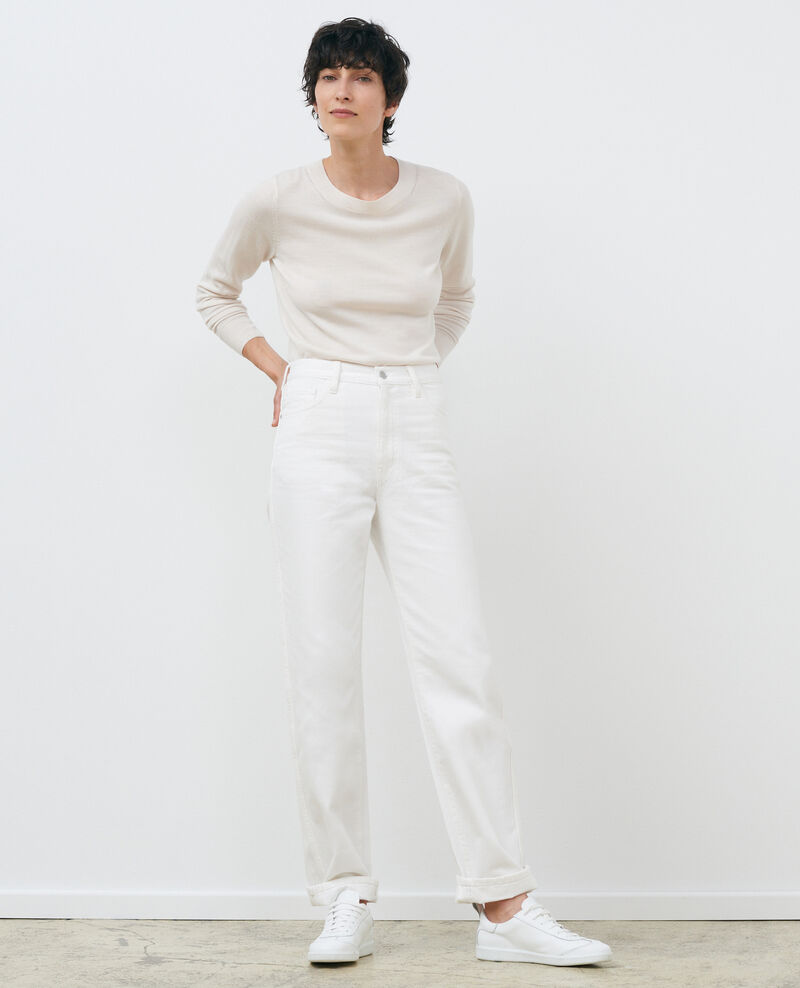 Jersey cuello redondo de lana merino Gardenia Passy