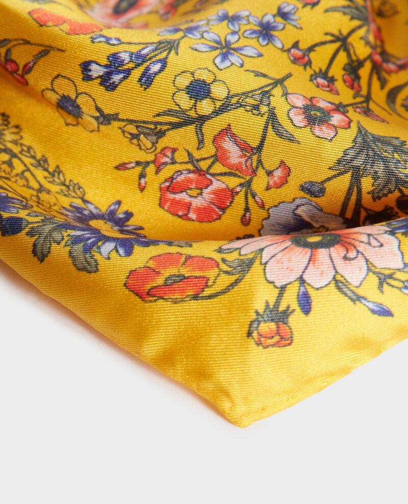 Fular con forma diamante de seda Spectra yellow Nage