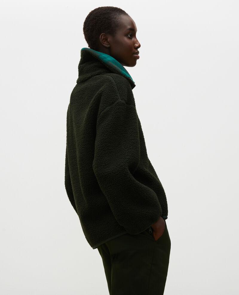 Jersey ancho de polar con cuello de tartán Scarab Marson