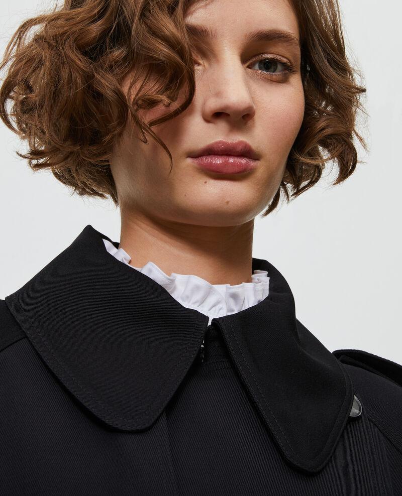 Trench largo fluido de lana Black beauty Messimy