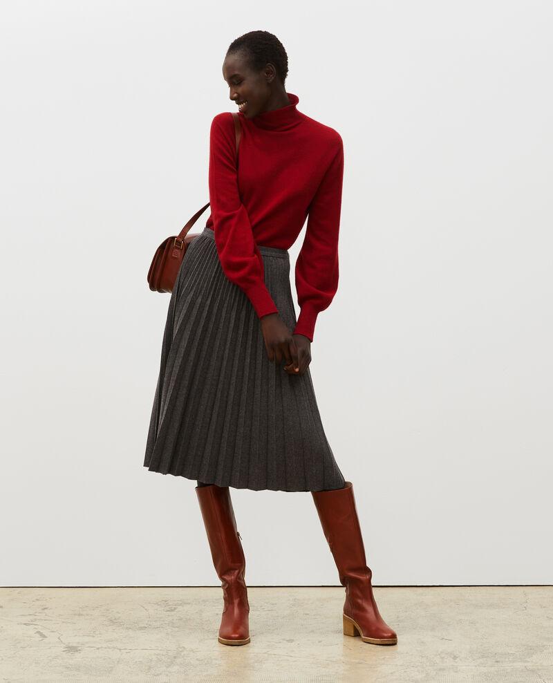 Falda plisada de lana Medium grey melange Mareille