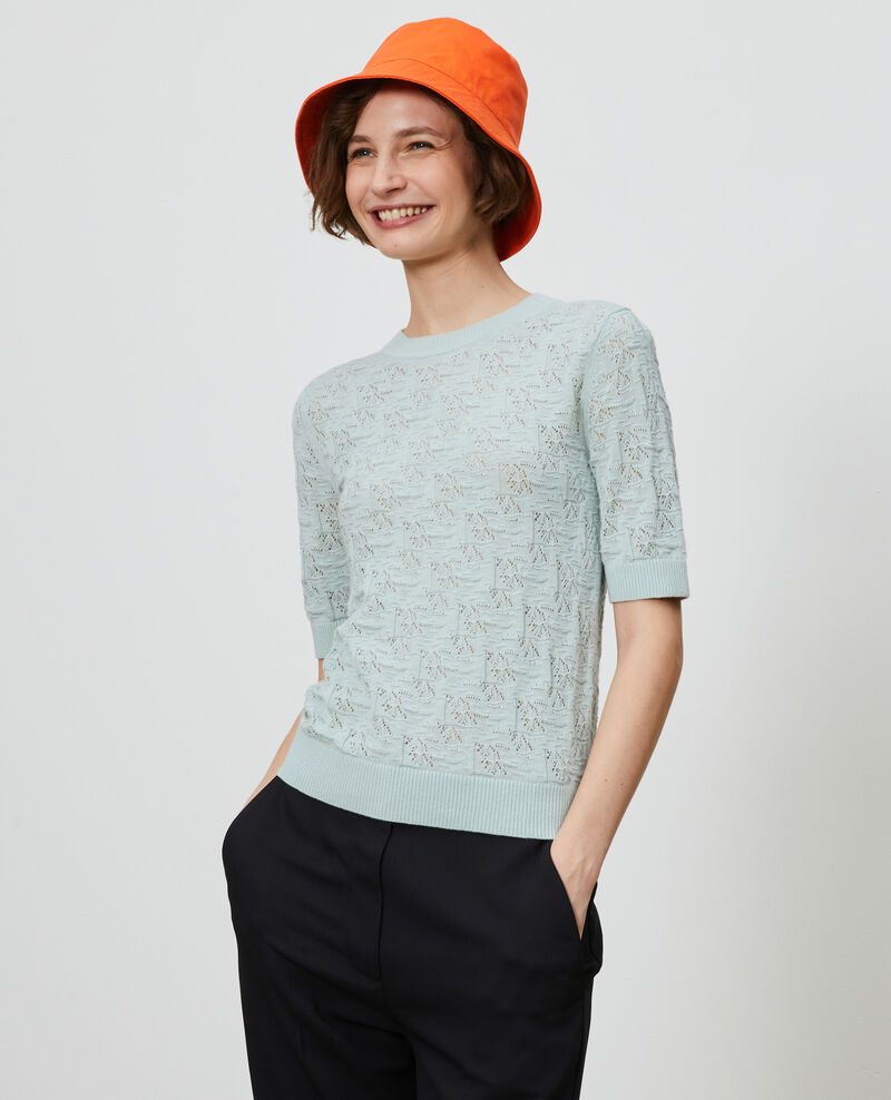 Jersey de algodón y lino Blue haze Lagos