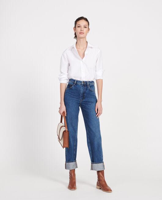 Jeans talle alto y corte recto DENIM MEDIUM WASH