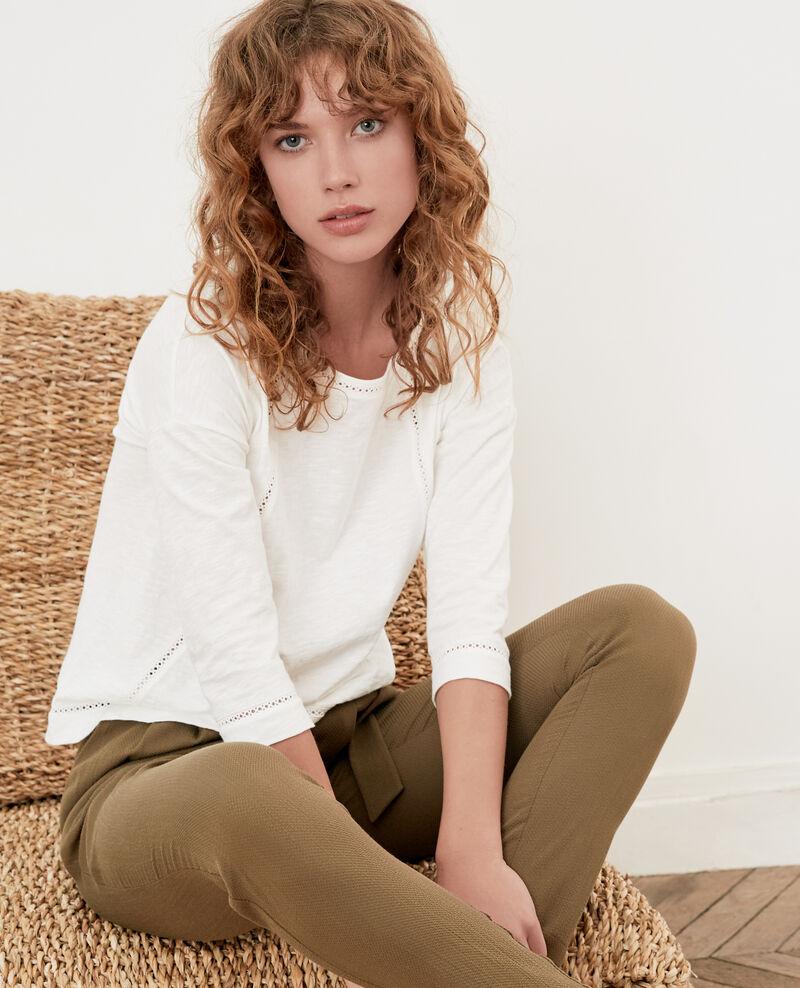 Camiseta con detalles de fantasía Blanc Florin