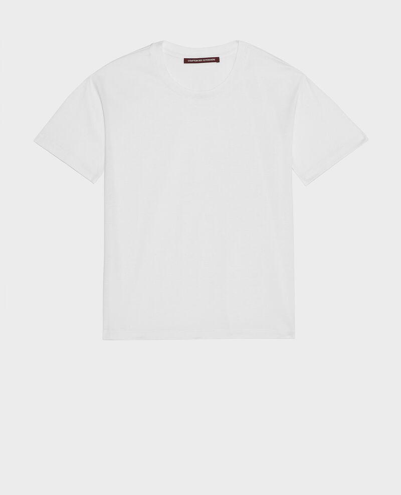 Camiseta de algodón con cuello redondo y manga corta Optical white Lirous