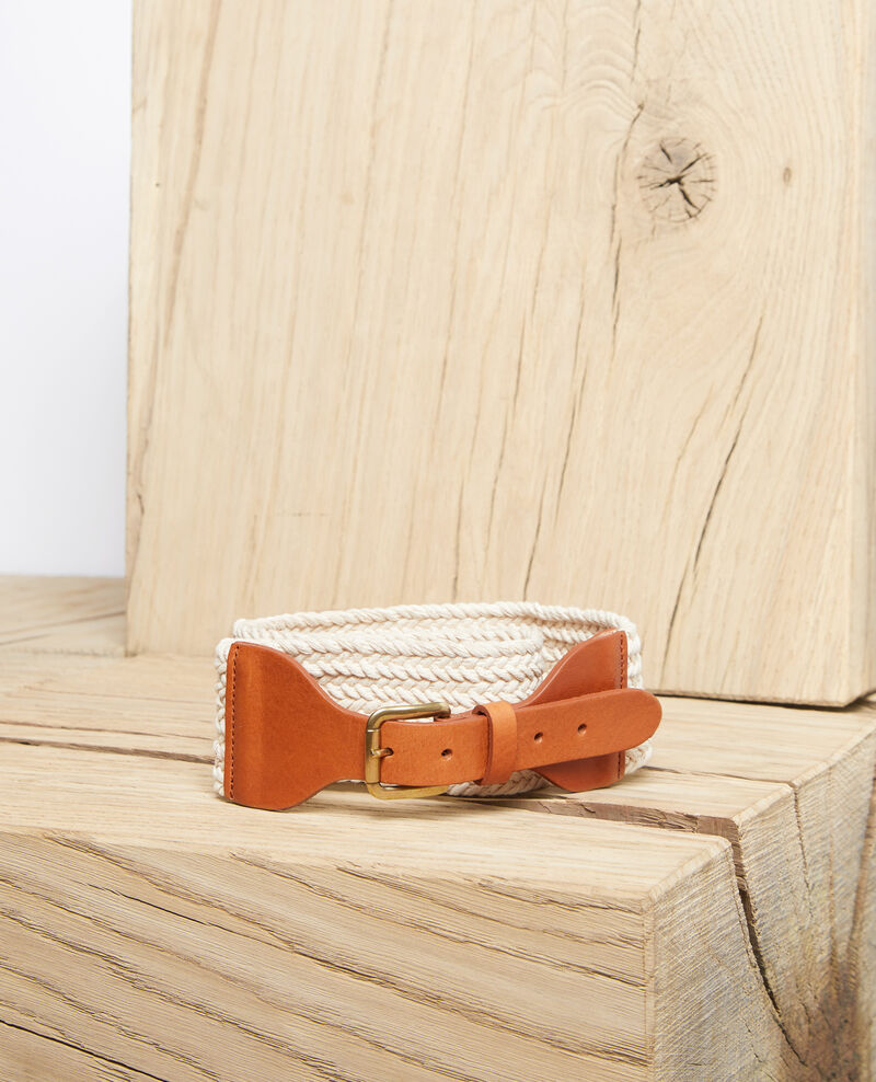 Cinturón de dos materiales Ow/camel Icoton