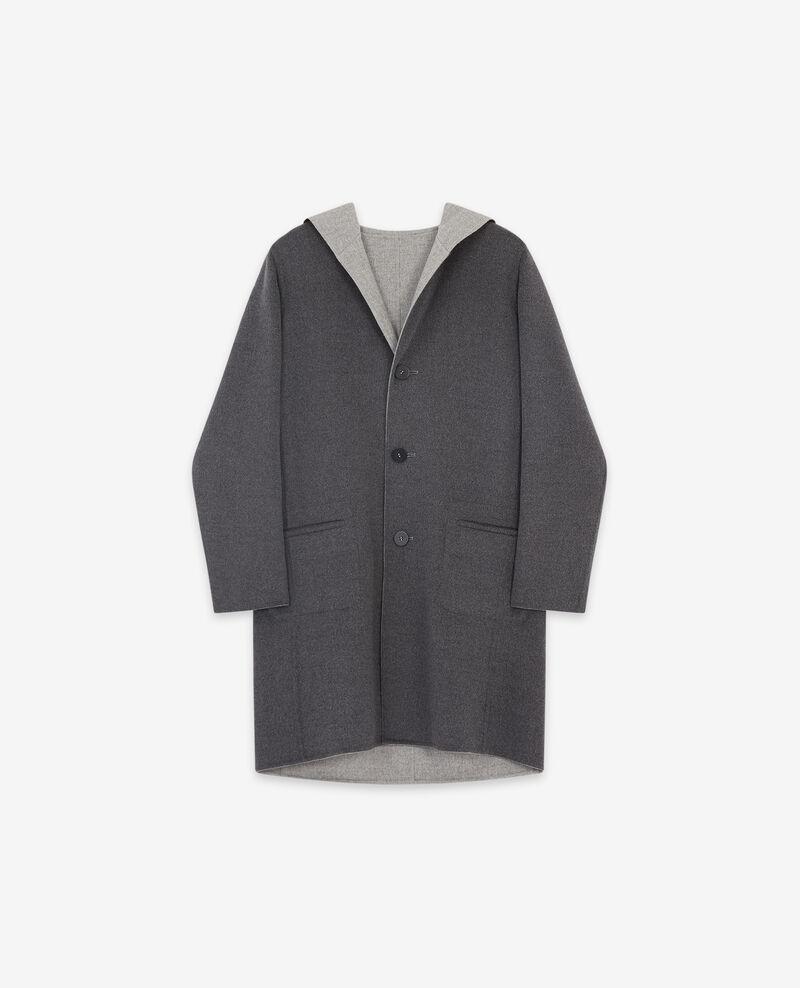 Abrigo reversible de lana con doble cara Dark grey/light grey Darbin