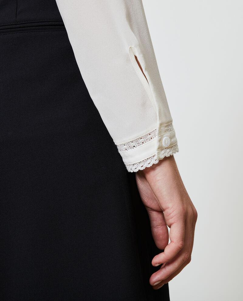 Blusa fluida de seda y encaje Gardenia Nargut