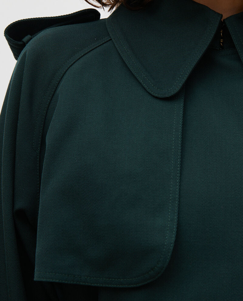 Trench largo fluido de lana Scarab Messimy