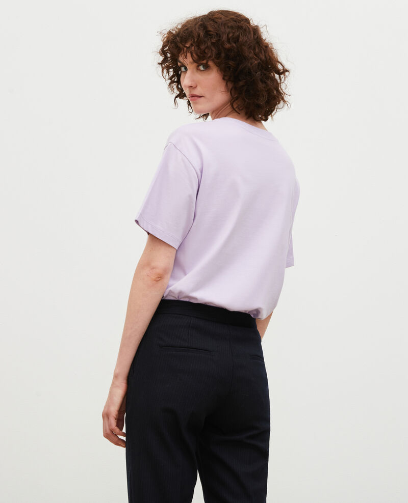 Camiseta de algodón manga corta Pastel lilac Mia