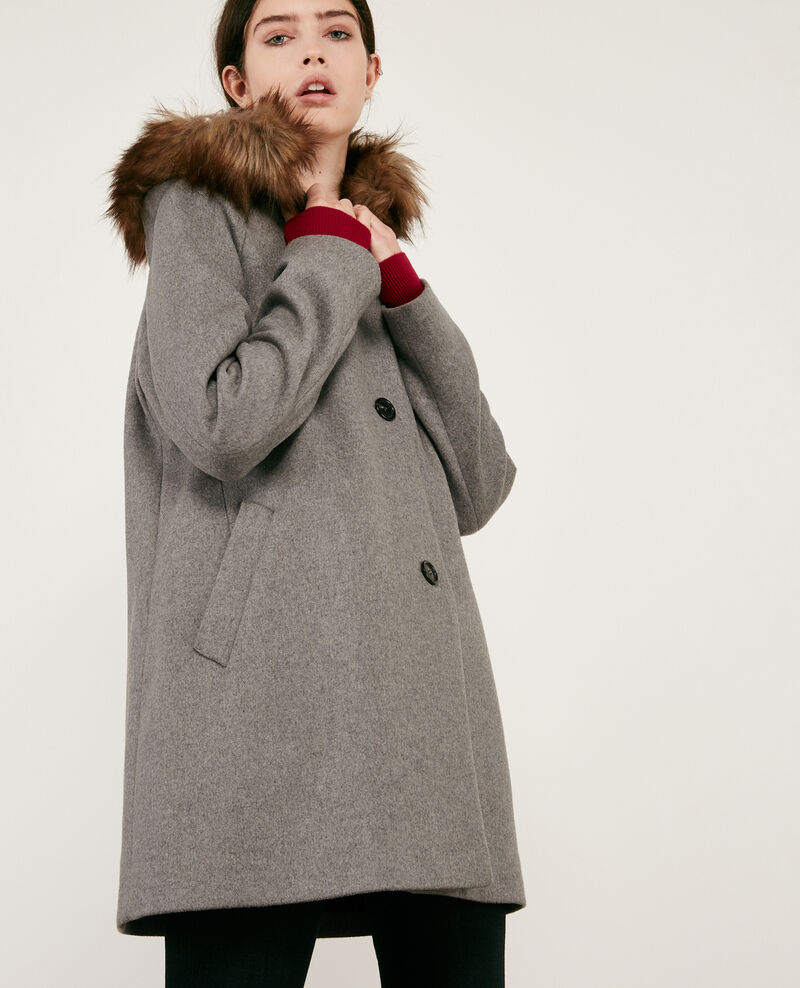 Abrigo de lana Medium heather grey Dalexo