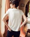 Camiseta de cuello barco Off white Jinolita