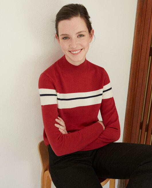 Jersey de lana merino Rojo
