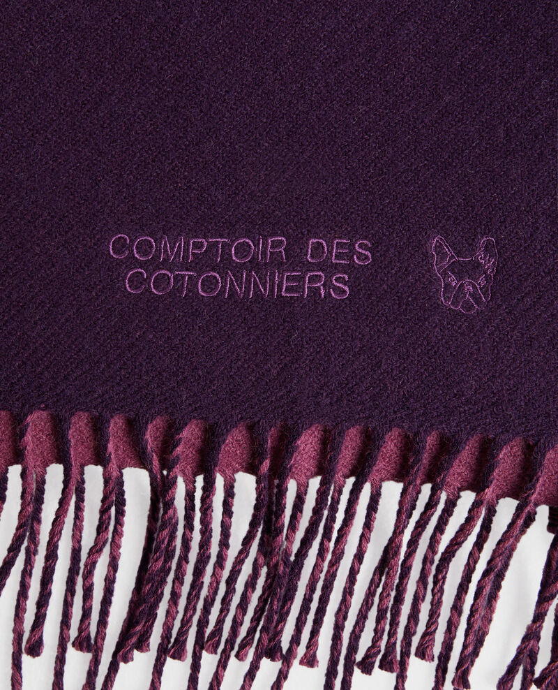 Bufanda reversible de lana Potent purple Pautes