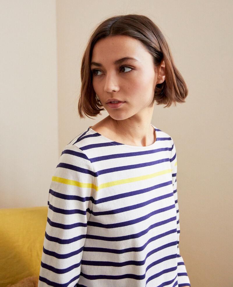 Camiseta de rayas Ow/navy/yello Isteria