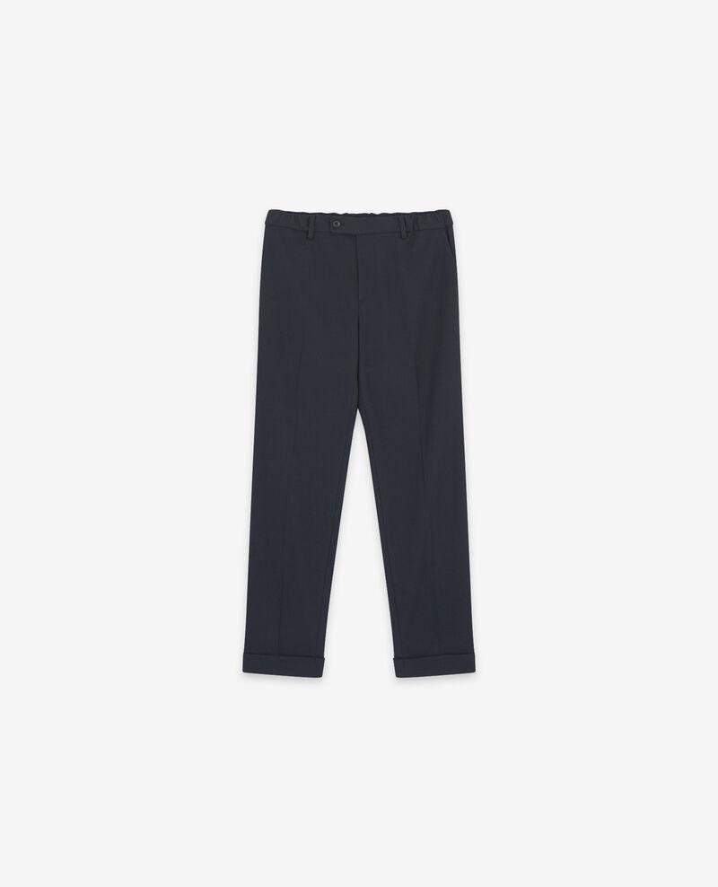 Pantalón fluido con pinzas Navy Dokyo