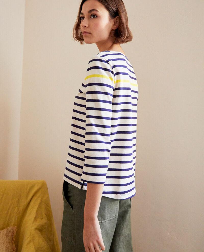 Camiseta de rayas Bleu marine Isteria