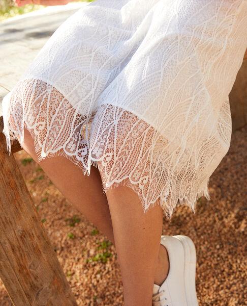 Comptoir des Cotonniers - Falda de encaje Off white - 4